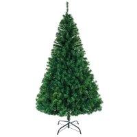 8 피트 크리스마스 트리 1138 가지와 인공 암호화 된 PVC 크리스마스 큰 나무 크리스마스 장식 홈 파티 장식품 LJ201217