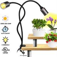 24W Dimmable Zwei-Kopf-flache Clip-Mais Grow-Beleuchtung Vollspektrum warmweißes Pflanzenlicht für Innenpflanzen