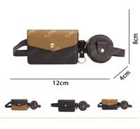 2PCS Femmes Sac à taille Sac de concepteur Sac de ceinture Hommes Haute Qualité Robinage Fanny Fanny Pack Bandoulière Brochebon Sac à poitrine HIP Porte-monnaie