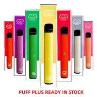 Mais recentes 37 cores Barra Puff mais descartáveis Vaes Puff Barras Plus 3.2ml pré-preenchidos PENS 550mAh Battery Stick Style Portátil Barra Puffer Descartável