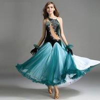 Etapa Wear Big Swing Velvet Standard Ballroom Dance Vestido Púrpura Lentejuelas Competencia Traje Waltz Performance Custome B-6168