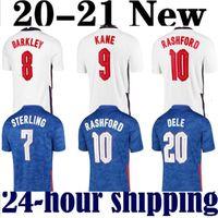 2021 جديد لكرة القدم جيرسي 2020 إنجلترا كين الاسترليني راشفورد 20 21 الفرق الوطنية قمصان كرة القدم الرجال + أطفال مجموعات مجموعات موحدة