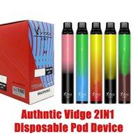 100% Original Vidge 2IN1 Disposable Pod Device 2000Puff E Cigarette Kit Device 950mAh 3+3ml Pod Two Vaping Experience 2in1 Vaporizer