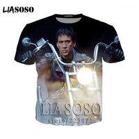 Liasoso Nicolas Cage Face au t-shirt Da Uomo Diverente T-shirt T-shirt Manica Corta Top Adolescente Cotone Naturale Stampato Kai131