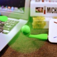 Venda quente flexível portátil removível usb mini ventilador e lâmpada de luz USB LED para toda a fonte de alimentação usb saída wmtlzl