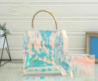 Yeni Moda Bayanlar PVC Malzeme Çanta Çantalar Çapraz Vücut Debriyaj Messenger Alışveriş Çantası Omuz Çantası Totes