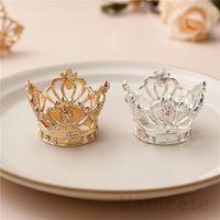 Tenedores de servilletas de la servilleta de la servilleta del estilo de la corona para los cenas de bodas del hotel de la fiesta de la boda del hotel Suministros de decoración de la mesa de la boda Hebilla de servilleta 100pcs T1I3442