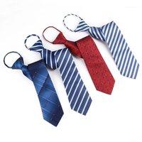 Linbaiway 남성 넥타이 게으른 넥타이 망 패션 지퍼 넥타이 비즈니스 맨 Gravatas 웨딩 셔츠 액세서리 사용자 정의 로고 1