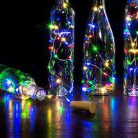 2m 20 LED 미니 병 마개 램프 문자열 막대 장식 문자열 빛 다채로운 빛 지구 색 전체 고휘도 LED 문자열