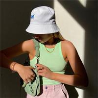 الأزياء المطبوعة فيشمان قبعة المرأة عارضة الشمس واقية واسعة بريم الأبيض كاب طوي شاطئ دلو قبعة الشارع أغطية الرأس المرأة الصيف