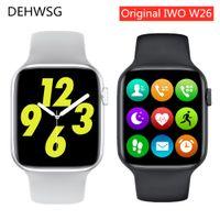 2021 IWO W26 Smart Watch Series 6 1,75 pouces Écran tactile complet ECG PPG Moniteur de fréquence cardiaque Bluetooth Call K8 pro Smartwatch IWO 15