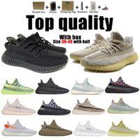 Top Calidad Kanye West Hombres Mujeres Running Zapatillas Cincillo Yecheil Negro Reflexivo Yeezreel Tierra Lino Asriel Zebra Trainers Sneakers 36 a 48