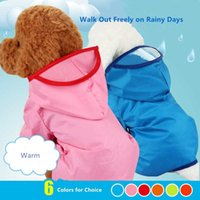 ماء الكلب معاطف سترة دعوى معطف واق من المطر مع الساقين والكتيف قبعة مياه ريسستانت البلوزات الوردي الأزرق أصفر الحيوانات الأليفة الكلاب الصغيرة