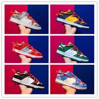 2021 Debüt Futura x Dunk SB Niedrig von Skateboard Designer Schuhe Universität Rot Wolf Grau Grün Blau Weiß des Chaussures Taquets Mans Sneakers