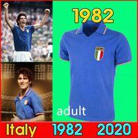 كأس العالم الرجعية 1982 إيطاليا Soccer Jerseys Cabrini Conte Rossi Tardelli Gentile Home Away 82 قميص كرة القدم الرجعية.