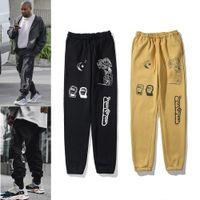 Kanye رجل السراويل عالية الشارع السراويل للرجال sweatpants عاكس عارضة رجل الهيب هوب كامو الشارع الشهير كامو جودة عالية مع مربع