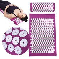 Acupression massage Tapis De Spike Relaxation Yoga Relief du corps Stress Mat Soulager corps Stress douleur Massage Coussin Mat
