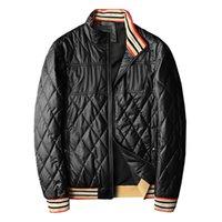 재킷 스톤 망 재킷 폭탄 겨울 남성 캐주얼 수 놓은 대형 격자 무늬 코튼 자켓 윈드 브레이커 코트 남성 자켓 남자 S 디자이너 JAC