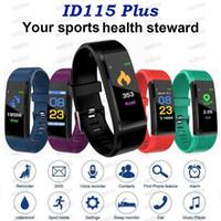 ID115 Plus Bracelet SMART Fitness Tracker Smart Watch Smart Work Tarif Health Moniteur Smart Bracelet Universal Android Cellphones avec boîte de vente au détail