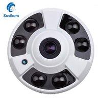 مصغرة كاميرا داخلي 5MP 6 قطع مجموعة المصابيح الأشعة تحت الحمراء المسافة 30 متر 180 درجة للرؤية الليلية مراقبة المنزل CCTV HD الكاميرا 1