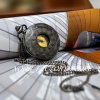 Nuovo grande grande 47 mm rame acciaio inox cornice piombo nero oro orologio romano orologio collana gioielli vintage gioielli vintage all'ingrosso steampunk watch