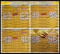 Vintage Doug Williams 63 Roy Selmon 40 Mike Alstott 99 Warren Sapp 56 Hardy Nickerson Dikişli Futbol Jersey Nakış Sarı AC5