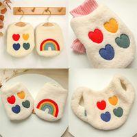 Gökkuşağı Sevimli Köpek Giyim Kitty Teddy Yelek Ceket Pet Malzemeleri Yeni Desen Kış Sonbahar Köpekler Giysileri Iki Ayak Yüksek Kalite 15 3CB M2