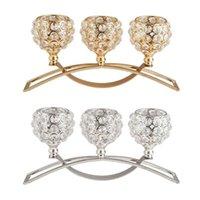 Portacandele di cristallo 3 bracci Candelabra tavola centerpiece da sposa buffet ornamenti
