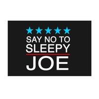 Bandiere anti-Biden dicono di no a sleepy joe 90x150cm doppio cucitura festival festival partito regalo 100d poliestere indoor stampato caldo stampato caldo vendita