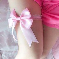 Горячая Safenh Сексуальная кружева Bowknot Bridal Harter Набор невесты Свадебные аксессуары ногой Подгузники ремень Женщины белый розовый черный фиолетовый зеленый