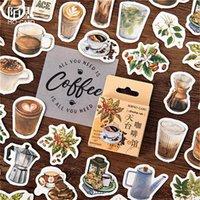 1pack Kawaii Cafe cahier autocollants dessin animé beau thème de mode journal autocollants de bureau de bureau école Papeterie