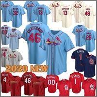 NUEVO Jersey de béisbol 2020 46 Paul Goldschmidt Cardinal 4 Yadier Molina 13 Matt Carpenter 1 Ozzie Smith Harrison Bader Stan Musial Martínez 33