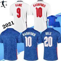 Homens + Kid Kitch 20 21 Kane Rashford Sancho Greenish Soccer Jersey 2021 Sterling Mount Abraham Dele Coady National Team Football Camisas