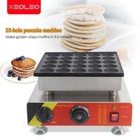 Ekmek Makineleri Xeoleo 25 Delik Gözleme Makinesi 800 W Dorayaki Makinesi Yapışmaz Poffertjes Mini Giller Kek