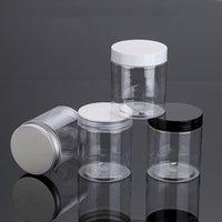 30 قطع 250 جرام شفافة زجاجات كريم التجميل فارغة، 250 ملليلتر واضح جرة أسود / أبيض الألومنيوم المسمار قبعة، العناية بالبشرة الأواني القصدير