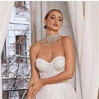 Colliers élégants bijoux de mariage Crystal pendentif pendentif Collier de cou de cou pour femmes Rhass Strass Long Chain Collier