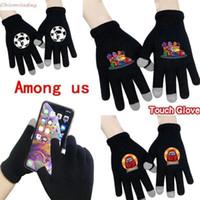 Среди нас в полном пальцем перчатки с сенсорным экраном косплей мультфильм игровой рисунок модель вязаные взрослые перчатки на открытом воздухе спортивные перчатки FY2403