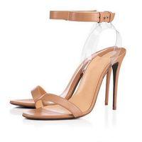 2021 Moda Marca Vermelho Sandálias Clear Slingback Heels Sandal TRANSPARENT TRANSPORTE MULHERES Salto alto Party Fashion Moda Sapatos de Verão 10