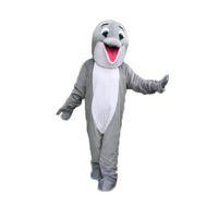 Costume de mascotte gris de la mascotte de dauphine personnage de dessin animé taille adulte longtening haute qualité (TM) 05