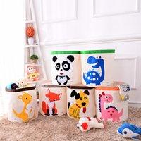 Kinder Cartoon Spielzeug Lagerkorb Falten Wäschekorb Kind Faltbare Kleidung Aufbewahrungsbox Kinder Spielzeug Organizer Lager Barrel LJ200812