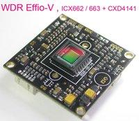"WDR EFFIO-V Chipset 1/3 ""Sony Super tinha II CCD ICX662 / ICX663 + CXD4141 CCTV Câmera PCB Módulo PCB (peças opcionais)"