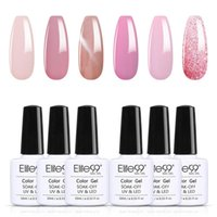 Nail Art Kits Elite99 6PCS Cherry Pink Series Gel Polish Set Soak Off Hybrid Varnish Semi Permanent UV