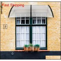 200 x 100 housse de pluie avant d'applications domestiques porte de la porte en polycarbonate d'extérieur de la porte avant de la porte d'auvent Patio QYLWCV Packing2010