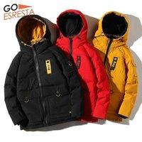 Goesresta 2020 gelgit marka erkek aşağı ceket 90% beyaz ördek aşağı moda vahşi sokak sonbahar ve kış kalın sıcak ceket erkekler1