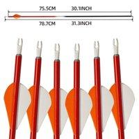 높은 qulaity 대상 양궁 사냥 활과 화살표 도매 사냥 탄소 샤프트 화살표 anti-nail과 활