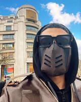 Top Qualität Modedesigner Gesichtsmaske für Männer Frauen Leder Luxe Mann Wiederverwendbare Waschbare Mund Masken Masken mit Box Staubbeutel
