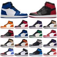 Nuovo designer scarpe da basket 1s Top Obsidian Unc senza paura senza paura di prima classe Phantom Turbo Red 1 Backboard Sport Sneaker Sneaker Allenatore Uomo Donne