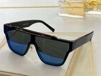 6125 أسود / أزرق نسج نظارات مسطحة أعلى نظارات كول الرجال أزياء نظارات شمسية occhiali دا الوحيد