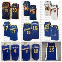 NCAA Stephen 30 Köri James 33 Wiseman Vintage 10 Tim Harbaide 4 Chris Webber 17 Chris Mullin 15 Latrell Sprewell Basketbol Jersey Koleji