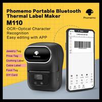 Phomemo M110 레이블 메이커 휴대용 블루투스 열 라벨 프린터 의류 보석 소매 우편물 바코드 미니 프린터 1에 적용